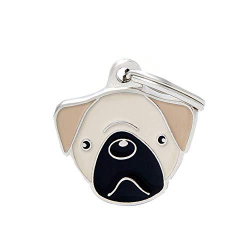 Dreamls huisdier hanger, hond ID tag sleutelhanger metalen sleutelhanger ring decor voor verjaardag, Knuffel Geel