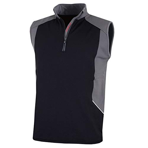 Proquip Golf 2018 Hurricane Gilet Thermo Fleece 1/4 Zip Herren Golf Weste Black XXL