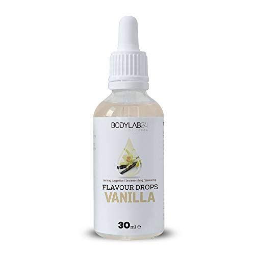 Bodylab24 Flavour Drops 30ml | Kalorienfreie Aromatropfen für Eiweißshake, Smoothie, Joghurt, Quark | Vanille