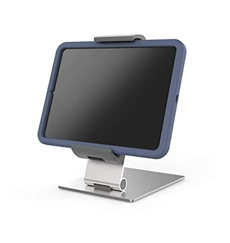 Durable 893723 Tablet Tischhalterung für Tablets mit Hülle 7-13 Zoll, 360° drehbar, silber/anthrazit