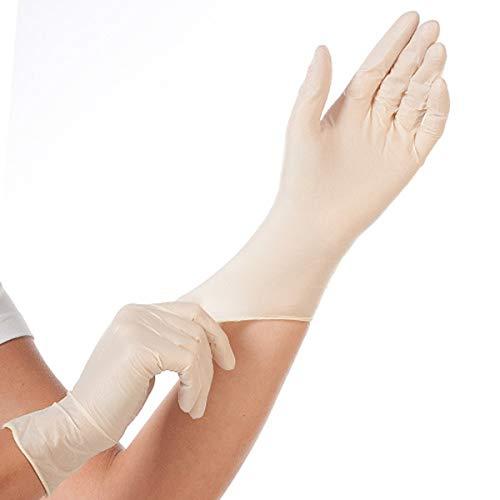Latex-Handschuh Größe L, Einmal-Handschuh, Top-Untersuchungshandschuh, Einweghandschuh, puderfrei, reißfest, dehnbar