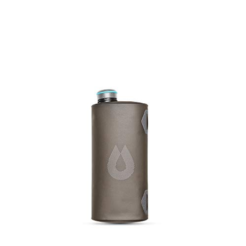 HydraPak Seeker - Collapsible Water Storage (2L/66oz) - BPA & PVC Free Camping Hydration Reservoir - Mammoth Grey