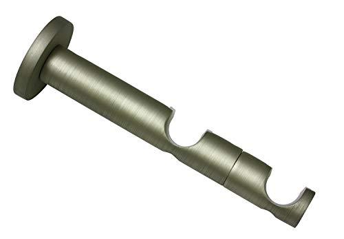 Gardinia combidrager 2-rails open voor Ø 19 mm champagne 9/6 cm