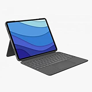 Logitech Combo Touch iPad Pro 12.9-inch (5th gen - 2021) Keyboard Case - Detachable Backlit Keyboard with Kickstand, Clic...