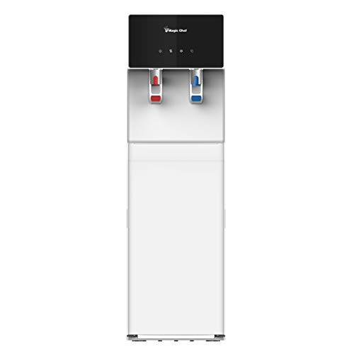 Magic Chef, MCWD40BW, Bottom Loading Water Dispenser, Hot and Cold Water Cooler with Child Safety Lock, BPA Free, Food Grade 304, White