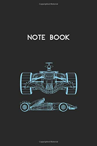 Notebook: Formula Racing Car 3D Silhouette Mechanical Engineering Draw Lined Pages Notebook White Paper Blank Journal with Black Cover Size 6in x 9in x 115 pages for Kids or Men and Women Mechanics