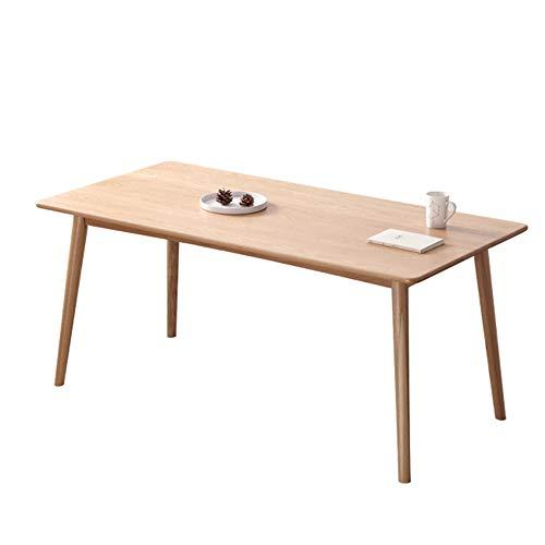 XBSD Natural Oak Finish houten eettafel, rechthoekig massief meubilair, met houten poten moderne vrije tijd koffietafel, voor woonkamer keuken etc