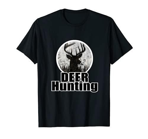 Buck Deer ハンティング迷彩デザイン 鹿の頭 Tシャツ