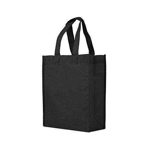 Reusable Gift/Party/Lunch Tote Bags - 25 Pack - Black