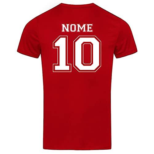 Teetaly - Maglietta T-Shirt Uomo Sportiva Personalizzata (Rosso, Medium, m)