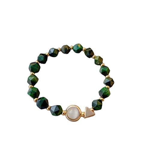 Yisss Pulsera de Damas del Regalo del día de la Madre, Pulsera de Piedras Preciosas Verde Simple, Conjunto de 2 Piezas, joyería de Las señoras románticas, niña Madre (Color : Blue)