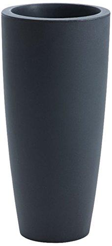 Nicoli - Vaso a forma conica con tecnologia rotazionale, Viola lucido, 33x70 cm