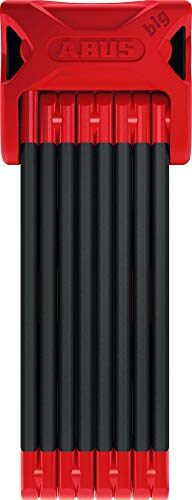 Abus Bordo Big 6000/120, 4 Feet, Red, with Lock Holder SH, Folding Bike Lock