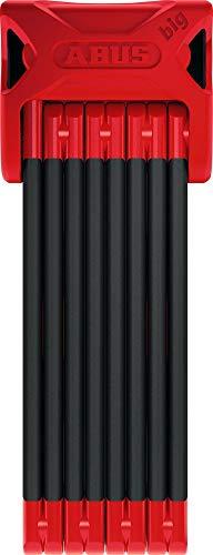 ABUS Bordo Big 6000/120, 4 Füße, rot, mit Schlosshalter SH, Faltschloss