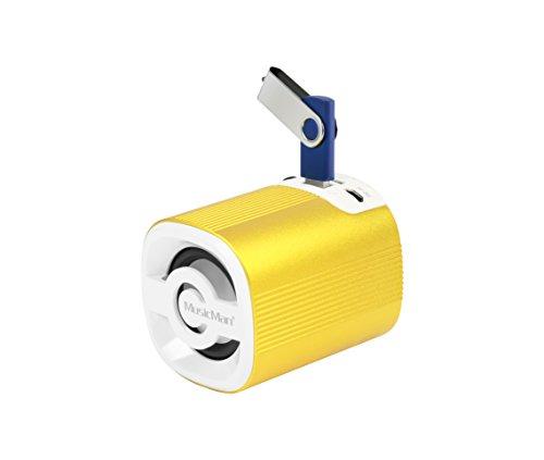 MusicMan X4 Grenade Soundstation Lautsprecher (microSD-Kartenslot, 3,5mm Buchse, 3 Watt, USB) gold
