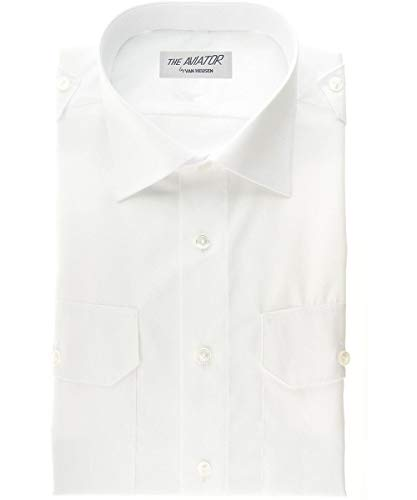 Van Heusen Aviator Shirt - Women's Short Sleeve - White -...