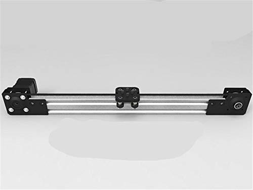 XACQuanyao LMY-Pulley, 1 Juego de 250 mm / 300 mm / 400 mm / 500 mm Longitud V-Slot Mini V Actuador Lineal NEMA 17 del Motor 2040 V-Ranura for la Impresora 3D CNC (Color : 400mm)