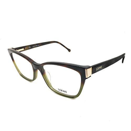 Loewe VLW976M530GEN Monturas de gafas, Shiny Grad.Havana Green, 55 Unisex