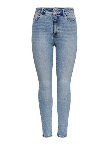 ONLY Damen Skinny Fit Jeans ONLTate HW Ankle 2730Light Blue Denim
