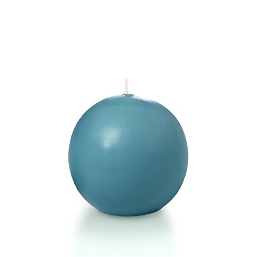 2.8' Turquoise Sphere/Ball Candles - 3 per pack