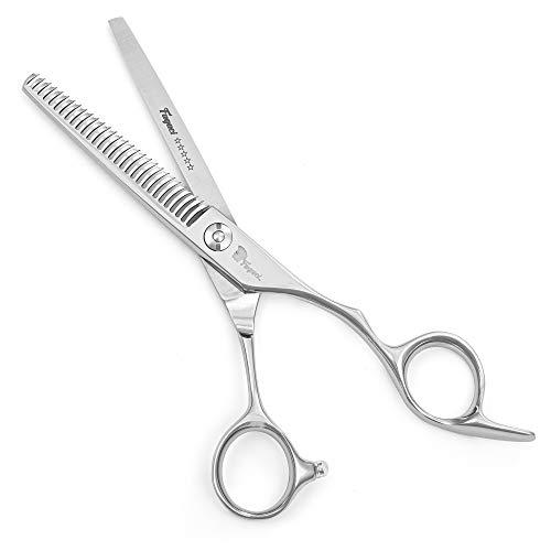 Tijeras Entresacar Profesional de 6 pulgadas con hojas extremadamente afiladas, tijeras de acero 440C para cortar el cabello, duraderas, de movimiento suave y de corte fino, tijera entresacar peluquer