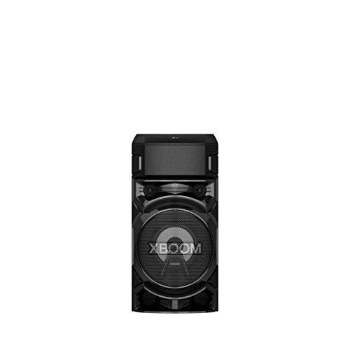LG RN5.DEUSLLK XBOOM RN5 Altavoz Bluetooth portátil 500 W 2 Canales – Altavoz Bluetooth con Lector USB, Radio Dab / FM, Super Bass Boost, Luces LED Multicolor, Entrada de Guitarra, Negro