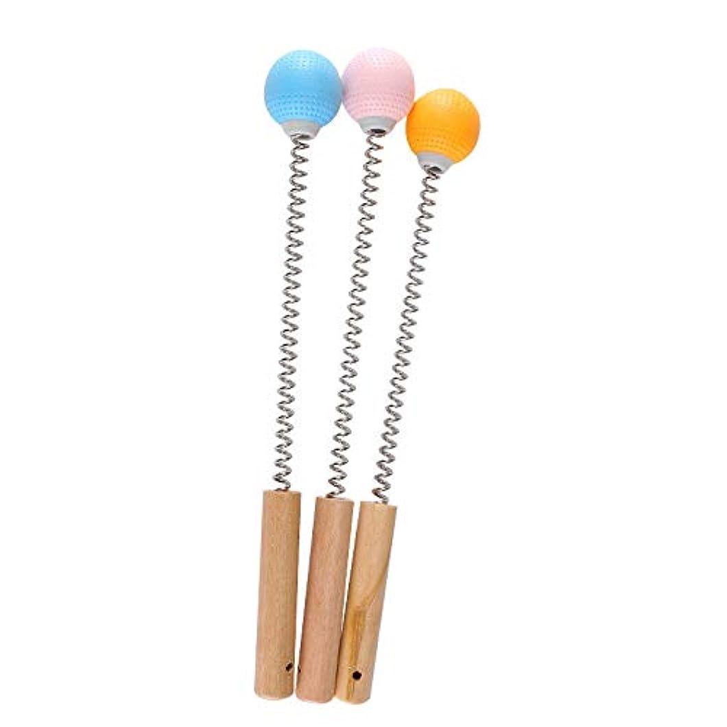 締めるリーガンコードOral Dentistry マッサージハンマー 肩たたき棒 木材柄 プラスチック製 ハンドル ばね付き ボディー ストレス 肩こり解消 手持ち ゴルフ型 (ブルー)