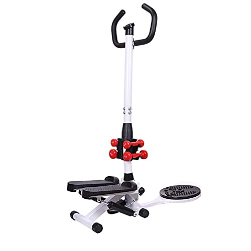 RJJBYY Mini Home Up-Down Stepper, un fácil entrenamiento elíptico Cross Trainer Fitness Endurance Training Step Swing Equipo de gimnasio pequeño y compacto con apoyabrazos ejercicio libre