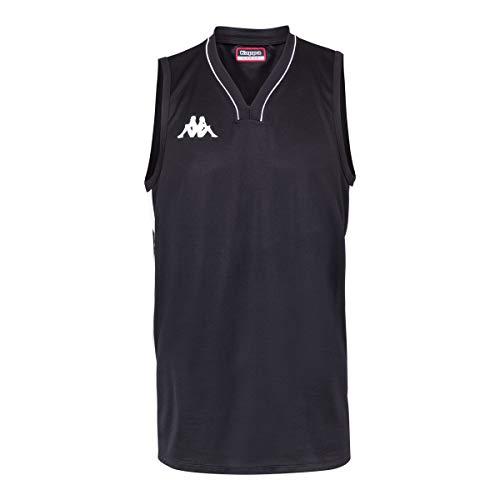 Kappa Cairo Camiseta Baloncesto, Hombre, Negro, L