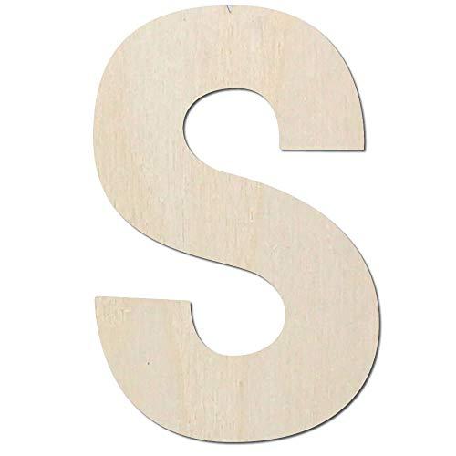 Kleenes Traumhandel Buchstaben aus Holz - Größe wählbar - bis 60 cm Höhe Typ 2 Buchstabe Zeichen (30 cm, Großes S)