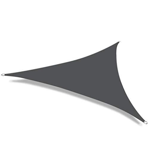 Party zonnebrandcrème luifel anti-waterdichte schaduw zeil schuilplaats driehoek zonwering bescherming 95% blok tuin terras luifel zwembad schaduw doek (kleur: wijn rood, Maat : 5x5x7.1m)
