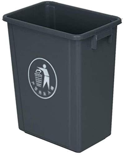 HFFFHA 100LDustbins Kunststoff Trash Can, Multifunktions-Hotels Trash Can Gewerbe verdicken Büro Abfalleimer Außen Großvolumige Trash Can Can Trash (Size : 60L)