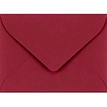 LUXPaper #17 Mini Envelopes in 80 lb. Garnet for 2 9/16 x 3 9/16 Cards, Printable Envelopes for Gift Cards and Thank You's, with Moistenable Glue, 50 Pack, Envelope Size 2 11/16 x 3 11/16 (Burgundy)