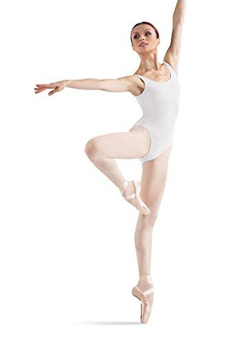 Bloch Dance Damen Ballerina Basic Tank-Trikot, Weiß, Größe L