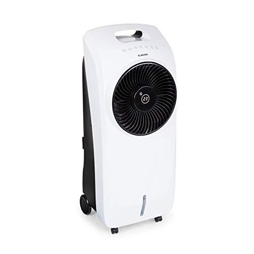 KLARSTEIN Rotator 4-in-1: Raffreddatore Ambienti - Ventilatore, Ionizzatore TACT, Umidificatore, 110W, Cool Breeze, 3 Velocità, 3 Modalitá, Timer 8h, Serbatoio Acqua 7L, Telecomando, Bianco