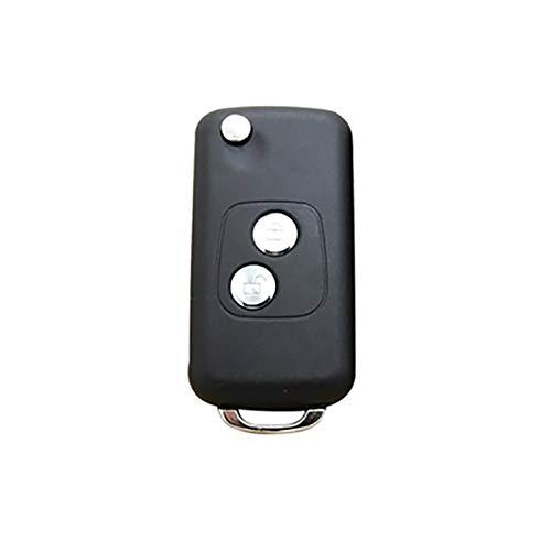 TOOGOO 2 Boutons à Distance Clé De Voiture Coquille Modifiée Flip Pliage pour Peugeot 206 pour Citroen Ne73 Lame Accessoires De Voiture