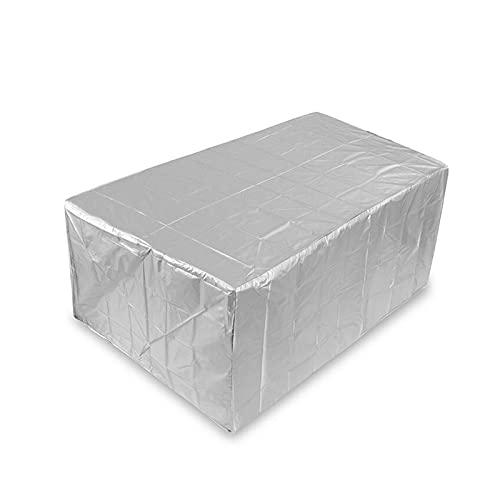 YSJJWDV Funda Muebles Jardin Cubierta Protectora para Muebles de Exterior y Patio, Impermeable, 60 tamaños, Anti-Polvo, Tela Oxford 210D, Negro, para sofá, Mesa