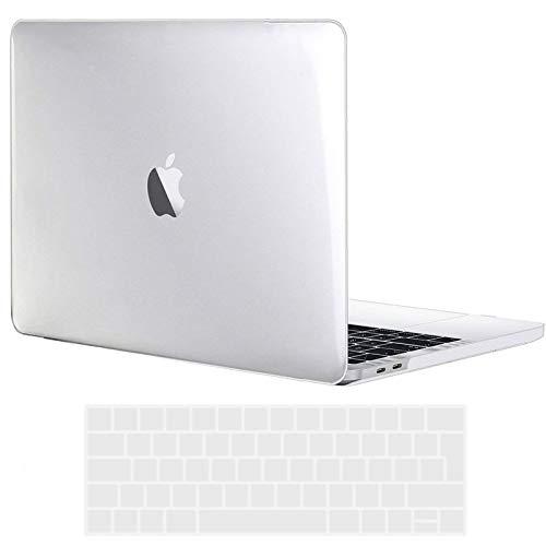 TECOOL MacBook Pro 15 Hülle 2019 2018 2017 2016 Hülle, Plastik Hartschale Schutzhülle mit Transparent EU Tastaturschutz für Apple MacBook Pro 15 Zoll mit Touch Bar Modell: A1990/ A1707 - Kristallklar
