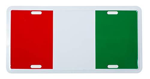 Italian Flag Metal License Plate Italy Auto Tag