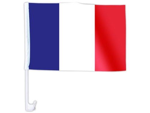 Alsino Eine WM Länder Auto Fahne Autoflagge Autofahne Fahne Auto Länderflagge Auto Fenster Flagge, wählen:AFL-03 Frankreich