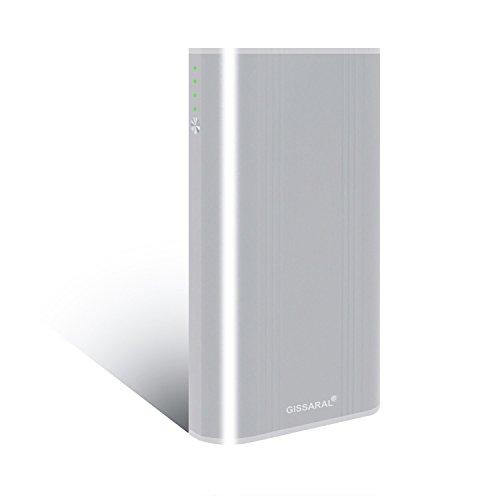 GISSARAL 24000mAh 90Wh Tragen Flug Power Bank Externe Batterie tragbare Ladegerät für MacBook Pro MacBook Air, 4 USB Ports Schnellladung für New MacBook Tabletten oder Smartphones -Silber