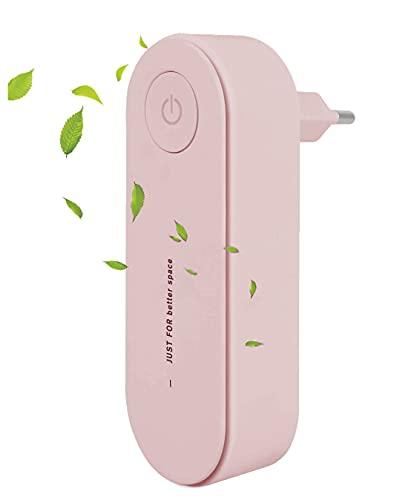 Liseng Conecte el limpiador de aire para el hogar Air Ionizer para quitar el desodorante portátil de color rosa con enchufe europeo.