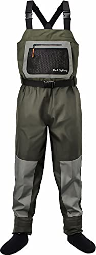 Dark Lightning Breathable Insulated Chest Waders, Perfect for 4...