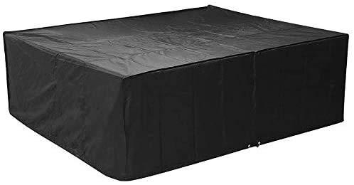 femor Abdeckung Schutzhülle Abdeckplane Abdeckhaube für Gartenmöbel und für rechteckige Sitzgarnituren, Gartentische und Möbelsets (250 * 200 * 80cm)