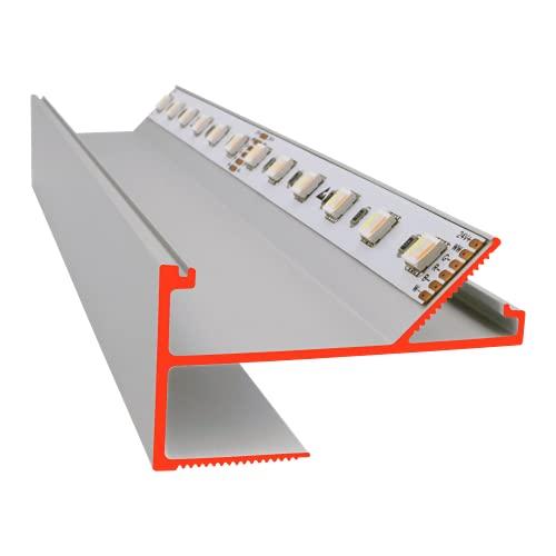 Jetzt auch für breite Lichtbänder: iluminize LED Trockenbau-Profil VTL Eloxiert, 150cm lang, Einspachteln oder Sichtmontage