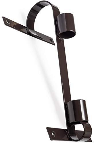 Fahnenhalter, langlebiges verzinktes Metall, braun, für große und kleine Fahnen