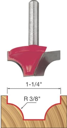 """high quality Freud 3/8"""" Radius Ovolo Bit wholesale with 1/4"""" Shank lowest (39-208) outlet online sale"""