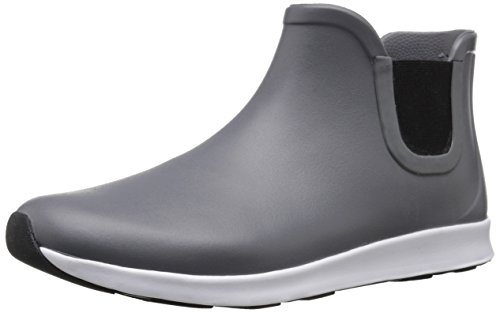 Native Shoes Apollo Rain Dublin Grey/Shell White/Jiffy Black Rubber Men's 6, Women's 8 Medium