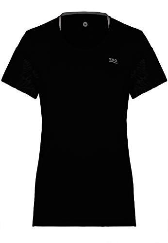 Tao Sportswear, zentour Ion W S Baseline à manches courtes, élastique et respirant Maillot de course pour Noir L noir