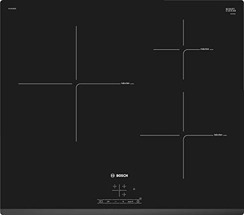 Bosch PUJ631BB2E, Placa de inducción, 3 zonas, Negro
